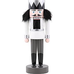 Nussknacker König weiß - 25 cm