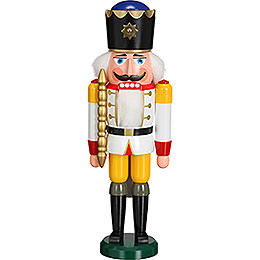 Nussknacker König weiß - 38 cm