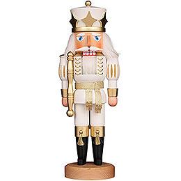 Nussknacker Prinz weiß/gold lasiert - 39 cm