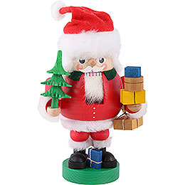 Nussknacker Santa mit Paketen - 19 cm