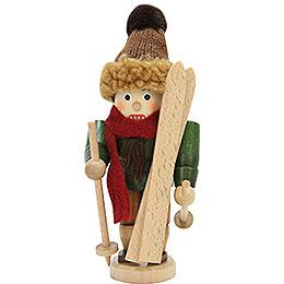 Nussknacker Skifahrer lasiert - 18 cm