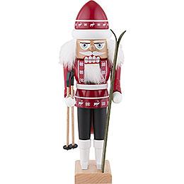 Nussknacker Skifahrer rot - 29 cm
