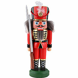Nussknacker Soldat, rot - 22 cm