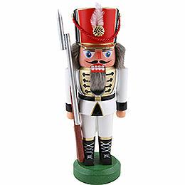 Nussknacker Soldat, weiß - 22 cm