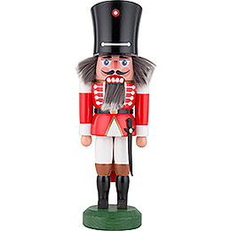 Nussknacker Wachsoldat mit Säbel rot - 26 cm