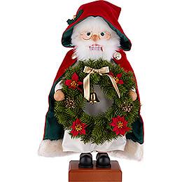 Nussknacker Weihnachtsmann Kranz - 45 cm