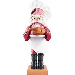 Nussknacker Weihnachtsmann Küchenchef - 45,5 cm