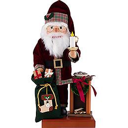 Nussknacker Weihnachtsmann am Kamin - 49 cm