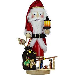 Nussknacker Weihnachtsmann mit Krippe - 45 cm