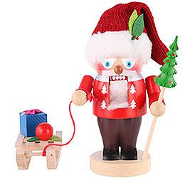 Nussknacker Weihnachtsmann mit Schlitten - 25 cm