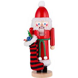 Nussknacker Weihnachtsmann mit Socken - 42 cm