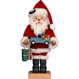 Nussknacker Weihnachtsmann mit Spielzeugauto - 46,5 cm