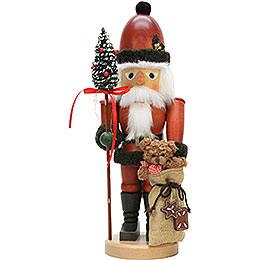 Nussknacker Weihnachtsmann mit Teddy - 44,5 cm