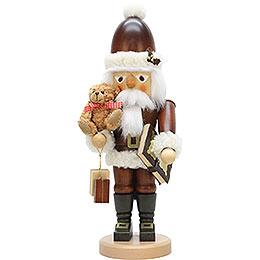 Nussknacker Weihnachtsmann mit Teddy natur - 44,0 cm