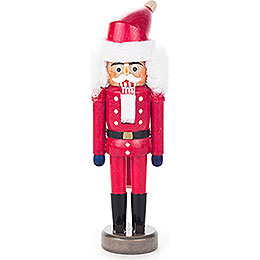 Nussknacker Weihnachtsmann rot - 14 cm