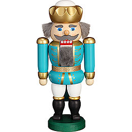 Nutcracker - Exclusive King Turquoise-White - 20 cm / 7.9 inch