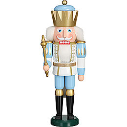 Nutcracker - Exclusive King White-Blue - 40 cm / 15.7 inch