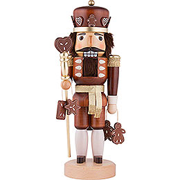 Nutcracker - Gingerbread King Natural Wood - 37,5 cm / 15 inch