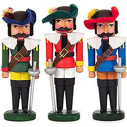 Nutcracker - Musketeers - Set of Three - 7,5 cm / 3 inch