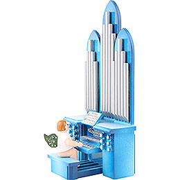 Organ with Angel and Musical Mechanism - 6,5 cm / 2 inch