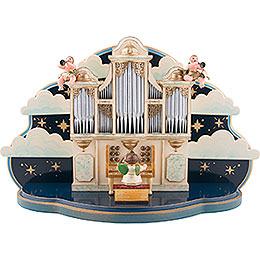 Orgel mit kleiner Wolke - 1.22 Musikwerk für Hubrig Engelorchester - 35x22x13 cm