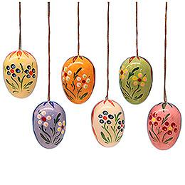 Ostereier-Set mit Punkte-Blumen - 3,5 cm