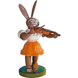 Osterhase mit Violine, farbig - 7,5 cm