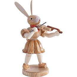 Osterhase mit Violine, natur - 7,5 cm