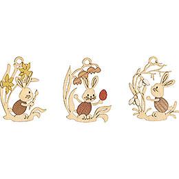 Osterschmuck Stupsi mit Blumen 6-er Set - 6,5 cm