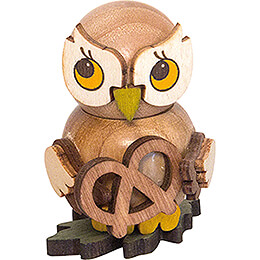Owl Child with Pretzel - 4 cm / 1.6 inch