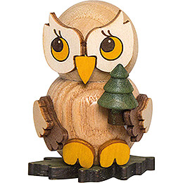 Owl Child with Tree - 4 cm / 1.6 inch