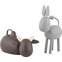 Ox and Donkey - KAVEX-Nativity - 12 cm / 5 inch