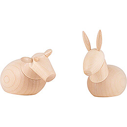 Ox and Donkey, natural - 7 cm / 2.8 inch