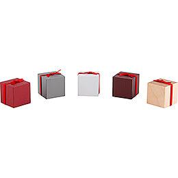 Pakete mit Schleife - 5 Stück - Farbmix - 2,5 cm