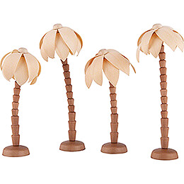 Palmen 4er-Set für Thiel-Figuren Krippe - 12 cm