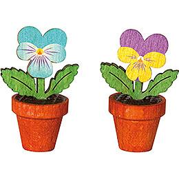 Pansies - Set of 2 - 3,3 cm / 1.3 inch