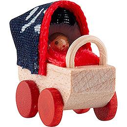 Puppenwagen mit Blaudruckplane - 2 cm