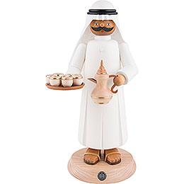 Räuchermännchen Araber mir rauchender Kaffeekanne und Tassen - 27 cm
