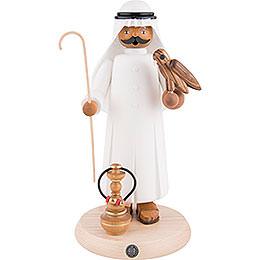 Räuchermännchen Araber mit Falke und Shisha - 27 cm