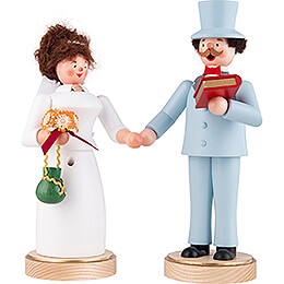 Räuchermännchen Brautpaar - 22 cm