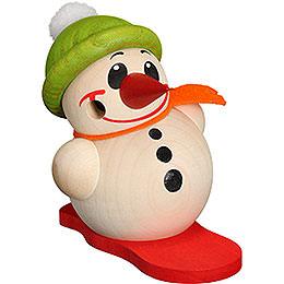 Räuchermännchen Cool-Man mit Snowboard & Bommelmütze - Kugelräucherfigur - 9 cm