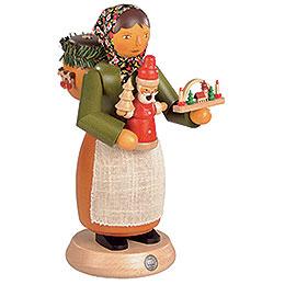Räuchermännchen Holzspielzeugverkäuferin - 25 cm