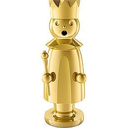 Räuchermännchen König - Edelstahl, vergoldet - 15 cm