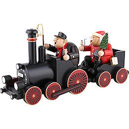 Räuchermännchen Lokführer mit Eisenbahn - 48,5x21,5x13 cm
