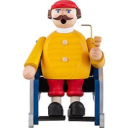 Räuchermännchen Rollstuhlfahrer - 14 cm