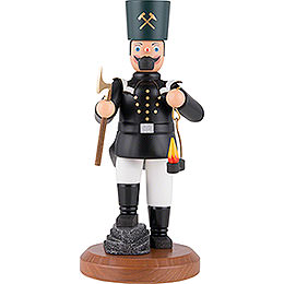 Räuchermännchen Sächsischer Bergmann in Paradeuniform mit Knickbein - 22 cm