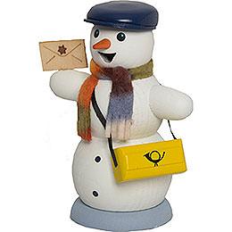 Räuchermännchen Schneemann Briefträger - 13 cm