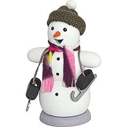 Räuchermännchen Schneemann mit Schlittschuh - 13 cm