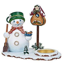 Räuchermännchen Schneemannwichtel mit Teelicht - 14 cm