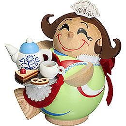 Räuchermännchen Schokoladenmädchen - Kugelräucherfigur - 11 cm